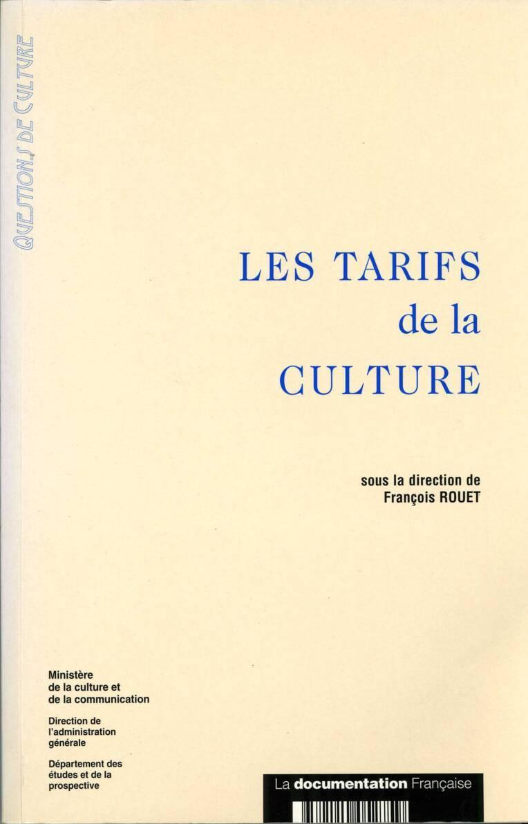 Les Tarifs de la culture