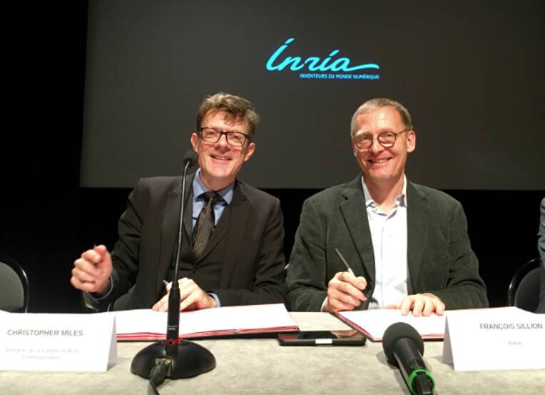 Signature convention INRIA : Christopher Miles et François Sillion