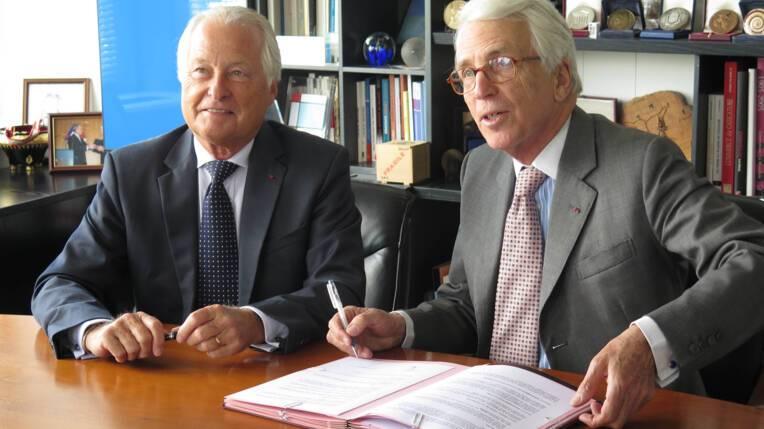 Charles de Croisset, président de la Fondation du patrimoine, et Jean-François Roubaud, président de la CGPME