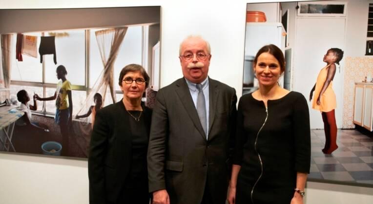 Valérie Fourneyron, Christophe de Margerie et Aurélie Filippetti