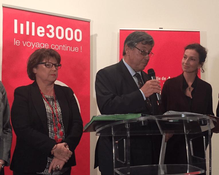 Martine Aubry, Ivan Renar et Audrey Azoulay
