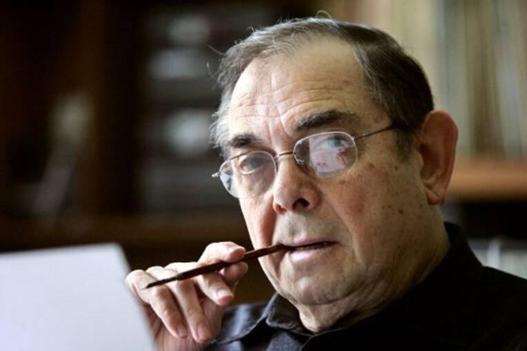 Photo prise le 4 mai 2005 de Marcel Gottlieb, l'auteur français de bande dessinée plus connu sous le nom de Gotlib