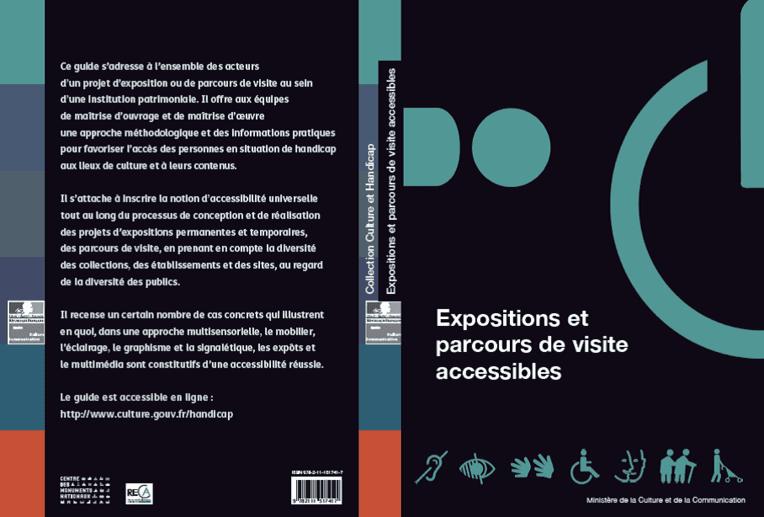 """Publication du guide """"Expositions et parcours de visite accessibles"""""""