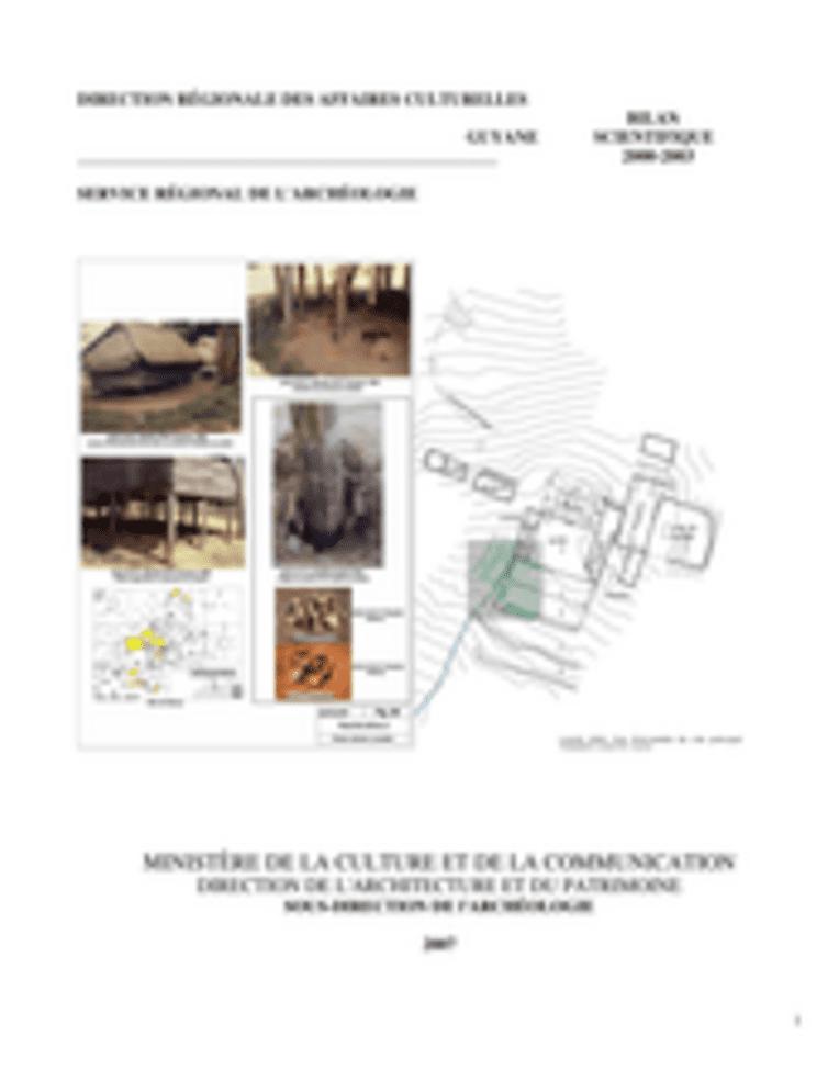 Bilan scientifique régional 2000-2003