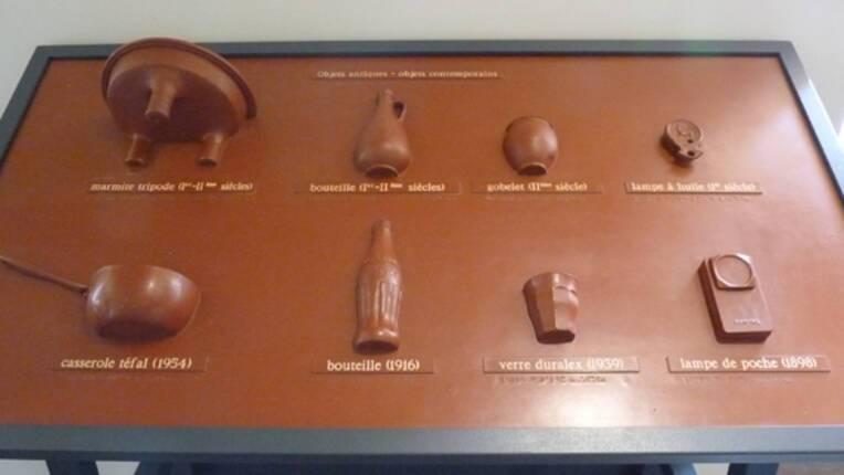 Musée de la céramique de Lezoux table tactile