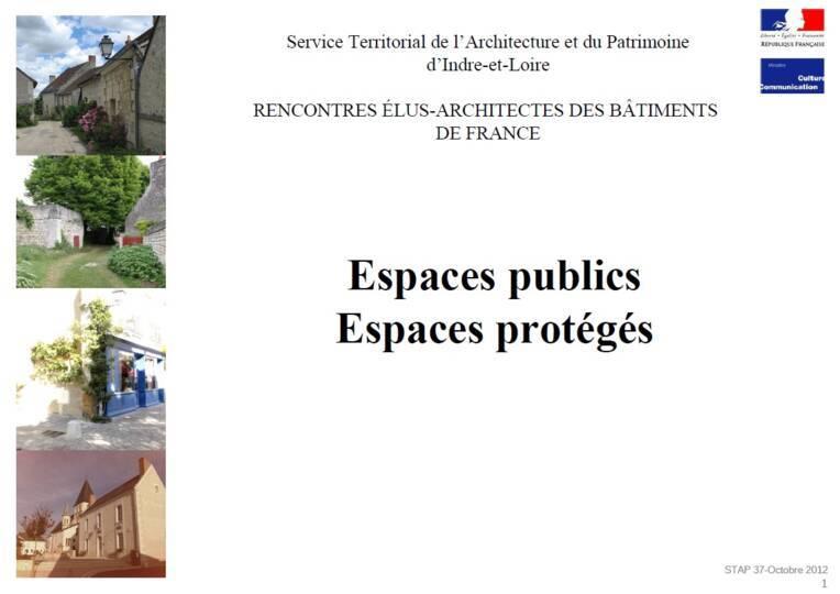 Espaces protégés, espaces publics : conseils à l'attention des élus locaux