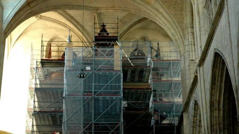 Restauration du buffet des grandes orgues de la cathédrale Saint-Étienne de Toulouse