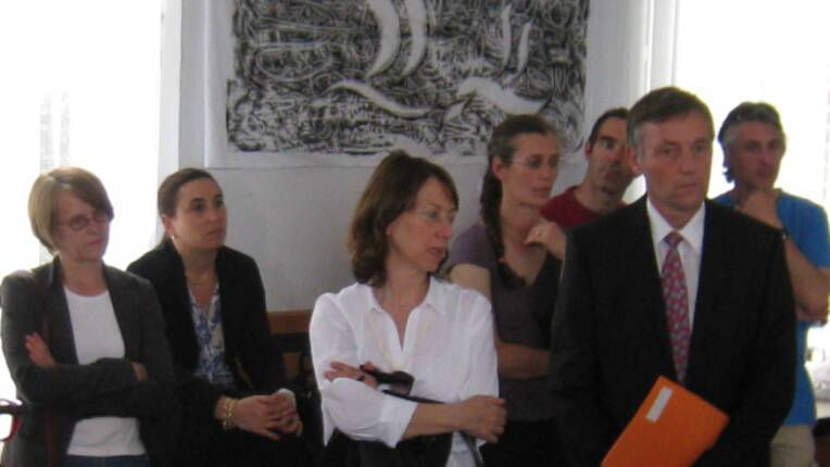 Rencontres artistes èlèves à Ribécourt