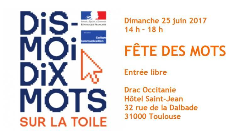 """""""Fête des mots"""", dimanche 25 mars, Drac Occitanie"""