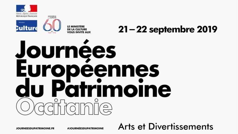 Programme des Journées européennes du patrimoine en Occitanie, 21 et 22 sept. 2019