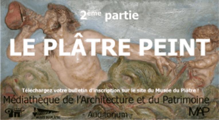 extrait de l'affiche de la journée d'étude : Le plâtre peint