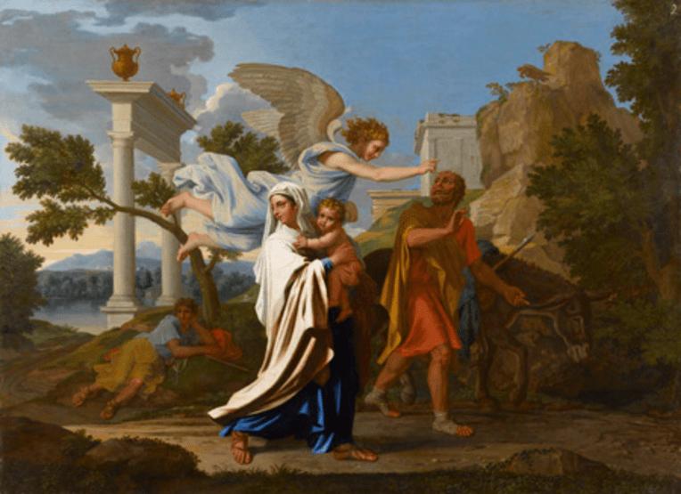 Poussin Nicolas, Fuite en Egypte, Paris, musée du Louvre, Dépôt de l'Etat en 2008, musée des Beaux Arts de Lyon, © MBA Lyon – Photographies Alain Basset