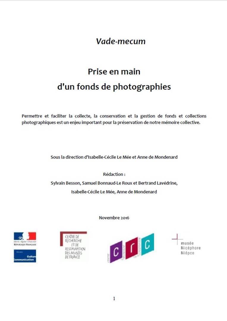 Vade-mecum : Prise en main d'un fonds de photographies