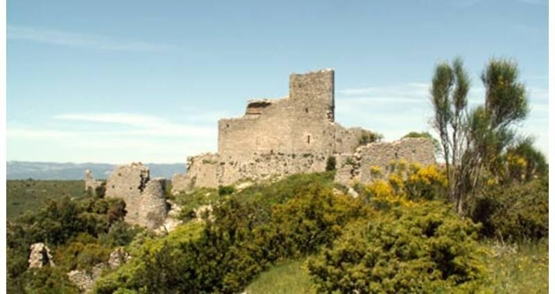 Ensemble médiéval du Castellas, vestiges du château - Aumelas