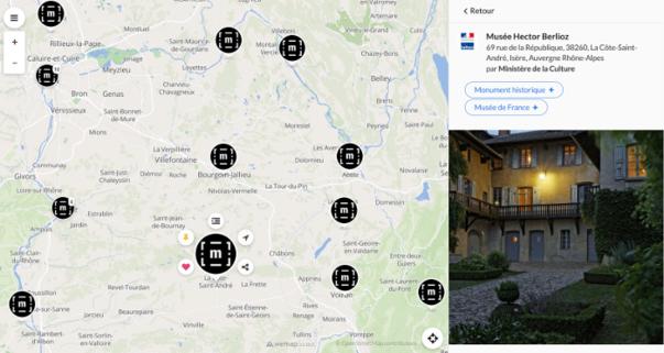 Accéder à la carte interactive des musées de France