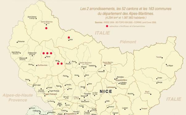 Carte Du Nord Du Departement Des Alpes Maritimes
