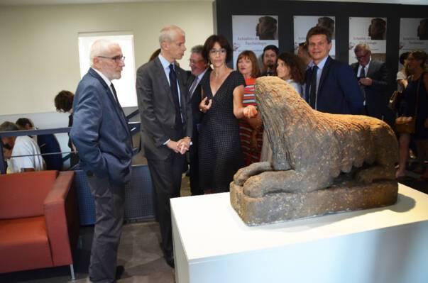 Franck Riester au musée de Lezoux