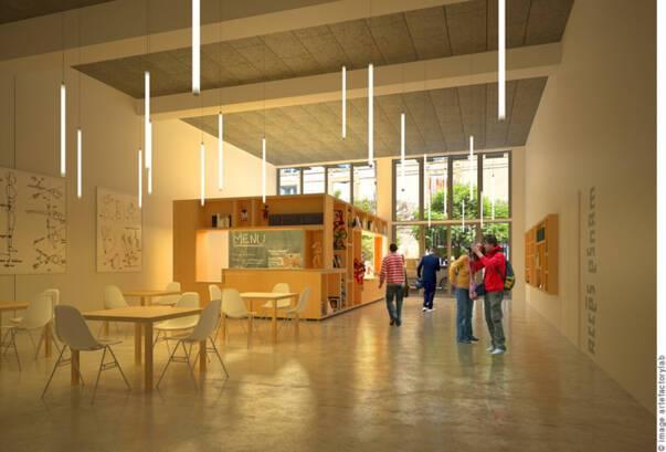 Projet architectural ESNAM © Cabinet d'architectes Blond & Roux