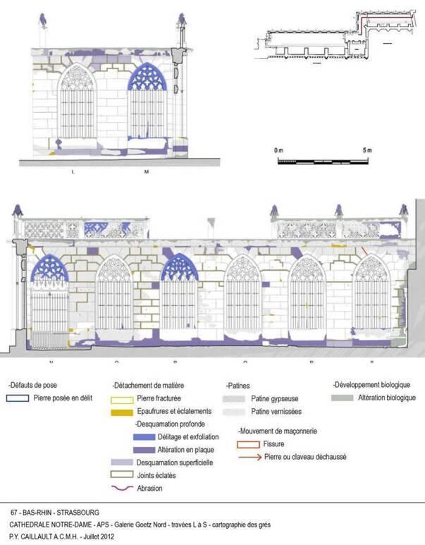 Cathédrale de Strasbourg - galerie Goetz - plan de restauration
