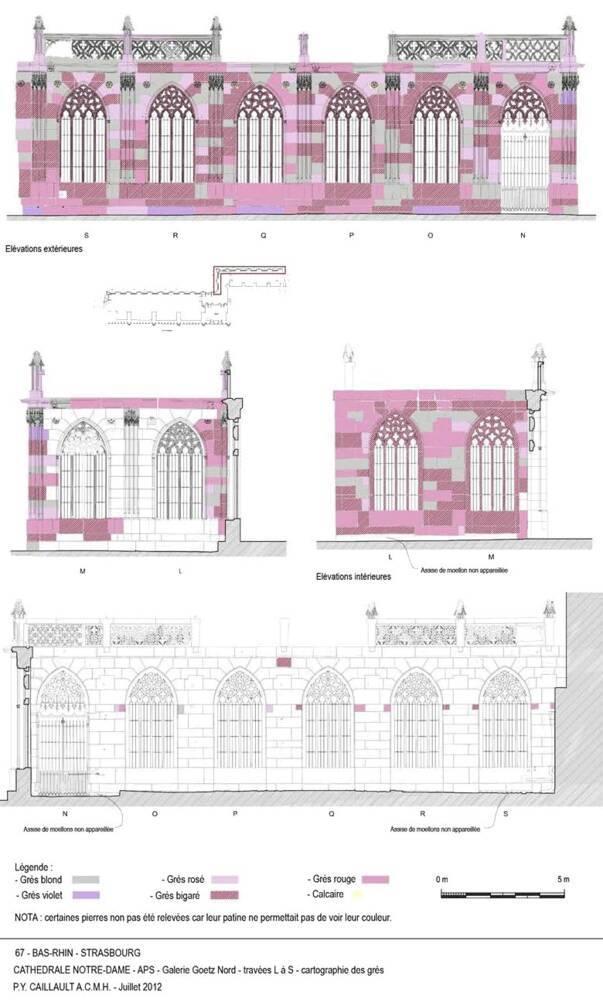 Cathédrale de Strasbourg - galerie Goetz - plan relevé