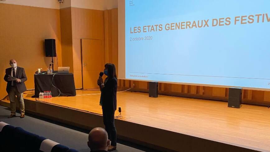 Etats généraux des festivals - Strasbourg - Intervention de  Bernadette Groff, présidente du Conseil départemental du Haut Rhin