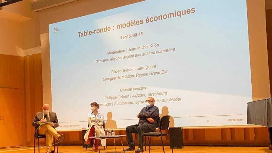 """Etats généraux des festivals - Strasbourg - Table-ronde """"Modèles économiques"""""""
