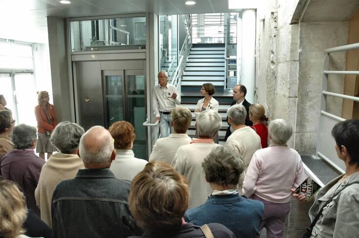 Accueil des visiteurs lors de la journée portes ouvertes