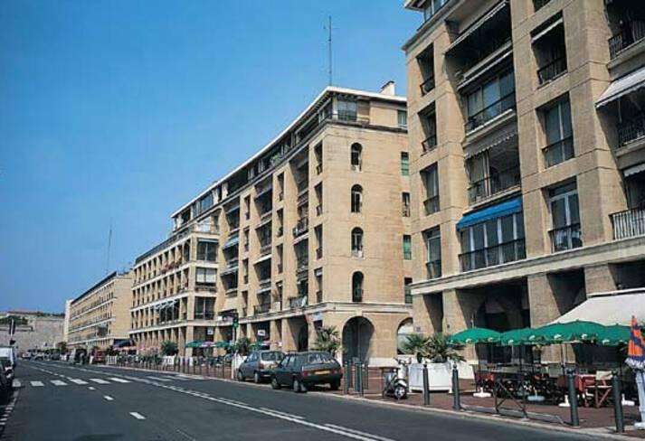 Immeubles du quai du port - Marseille, séquence ouest du quai