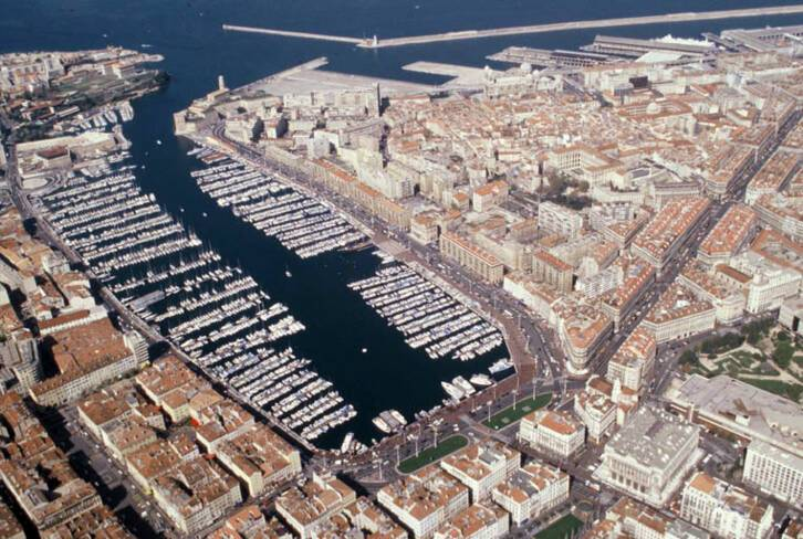 Vieux-port - Marseille, vue aérienne