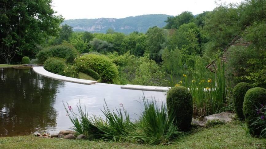 Jardins de l'ancien couvent, Meyronne (Lot)