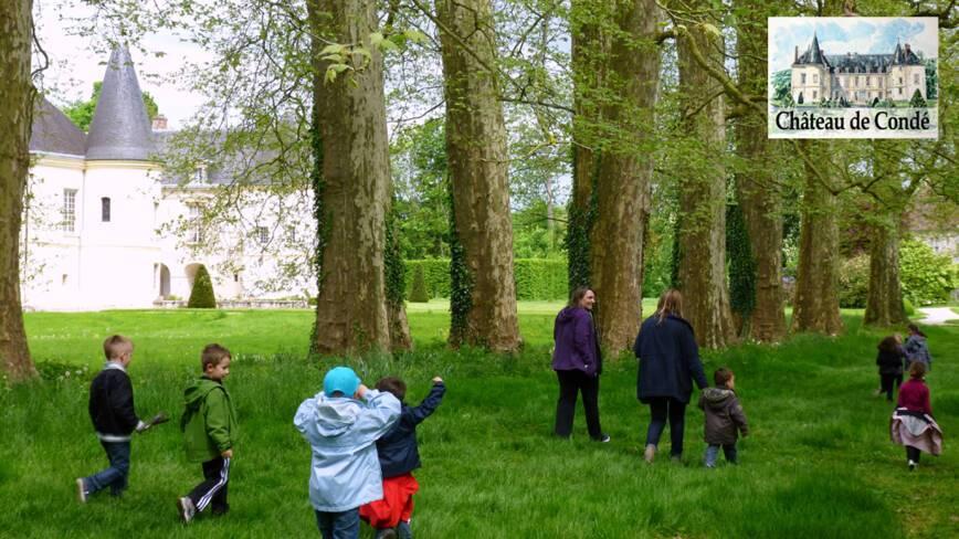 Aisne, Condé-en-Brie, le parc du château
