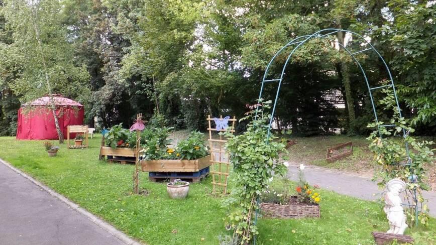 Aisne, Soissons, le jardin de Jeanne