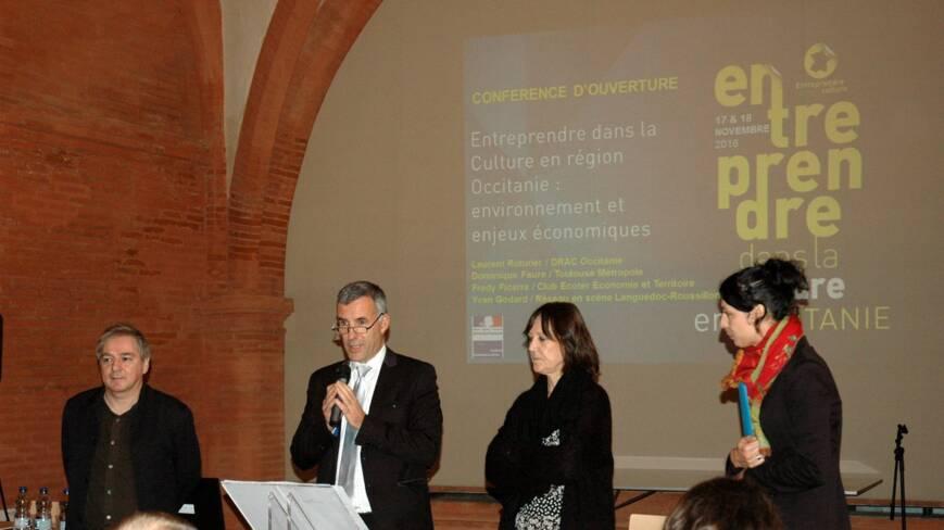 Ouverture du forum par Laurent Roturier, avec Anne Matheron, Yasmine Carlet et Philippe Tilly