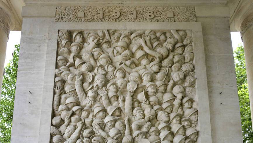 Toulouse (31). Monument départemental. Détail