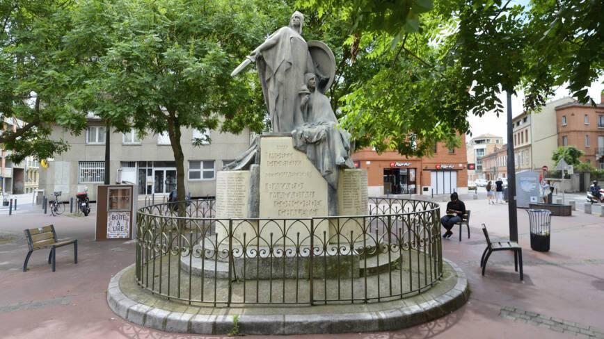 Toulouse (31). Monument des quartiers Bayard, Matabiau, Concorde, Chalets