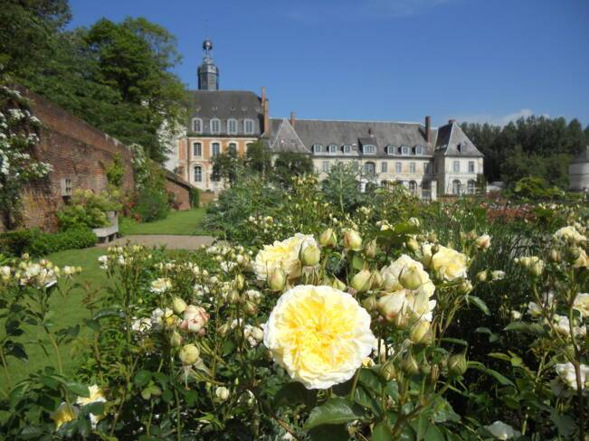 Somme, Argoules, jardin de l'abbaye de Valloires