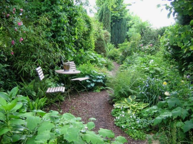 Somme, Halloy-les-Pernois, le jardin de Dan