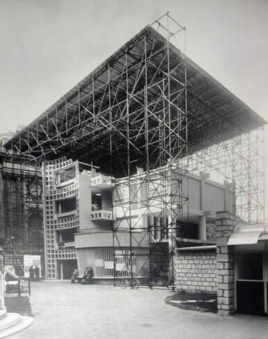 Vue de la maquette, échelle 1 de l'Unité d'Habitation de Toulon
