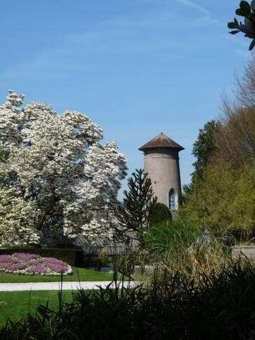 Somme, Abbeville, parc et jardin de l'Hôtel d'Emonville