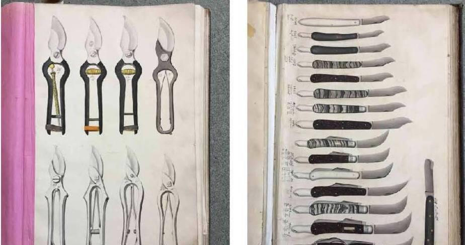 Nogent, musée de la coutellerie, 5 catalogues manuscrits et fonds d'archives commerciales de la maison Lessertois (1839-1869)