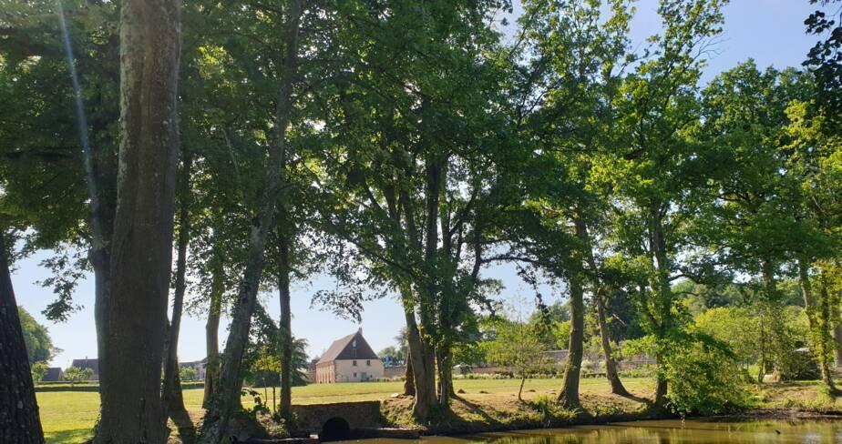 (28) Thiron-Gardais : jardin du Domaine de l'abbaye