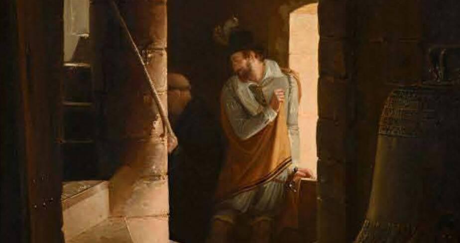 """Epinal, musée départemental d'art ancien et contemporain, """"Escalier du clocher de l'abbaye de Saint-Germain-des-près"""", par Jean Antoine Laurent (1822)"""