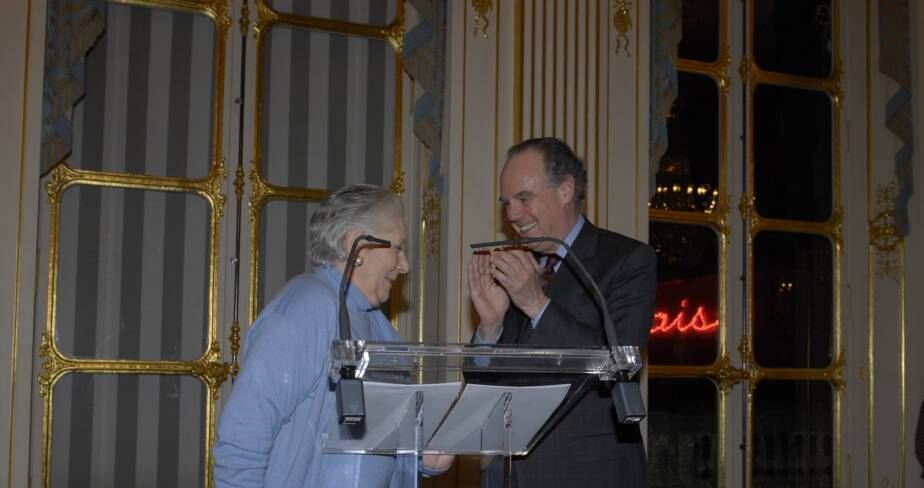 Frédéric Mitterrand et Claude Gensac