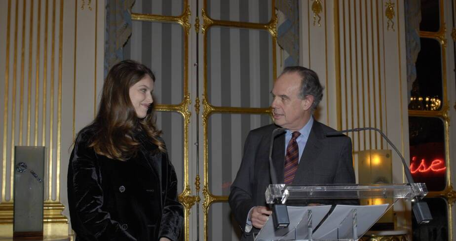 Frédéric Mitterrand et Laetitia Casta