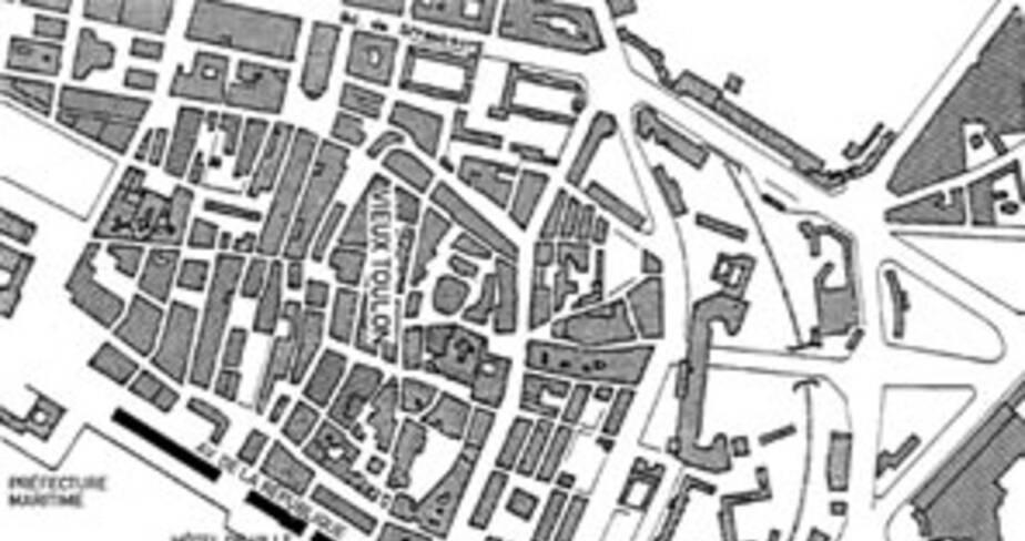 Port de Toulon, plan de situation