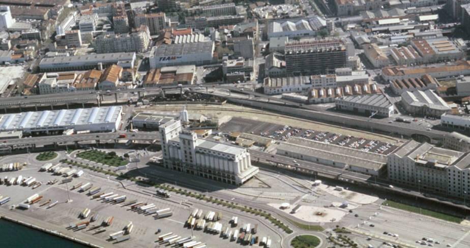 Silo d'Arenc, Marseillle - vue aérienne