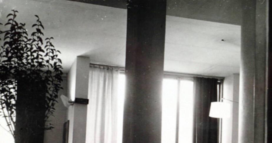 Le pilier en béton banché