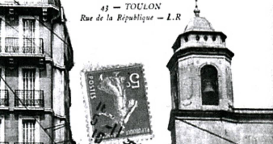 Carte postale. Ancienne rue de la République