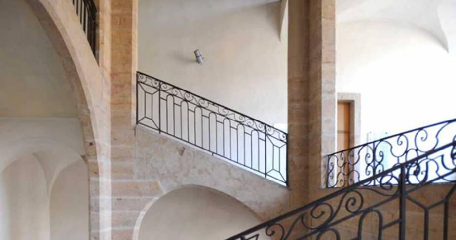 DRAC Rhône-Alpes escalier classé © Jean-Marie Refflé