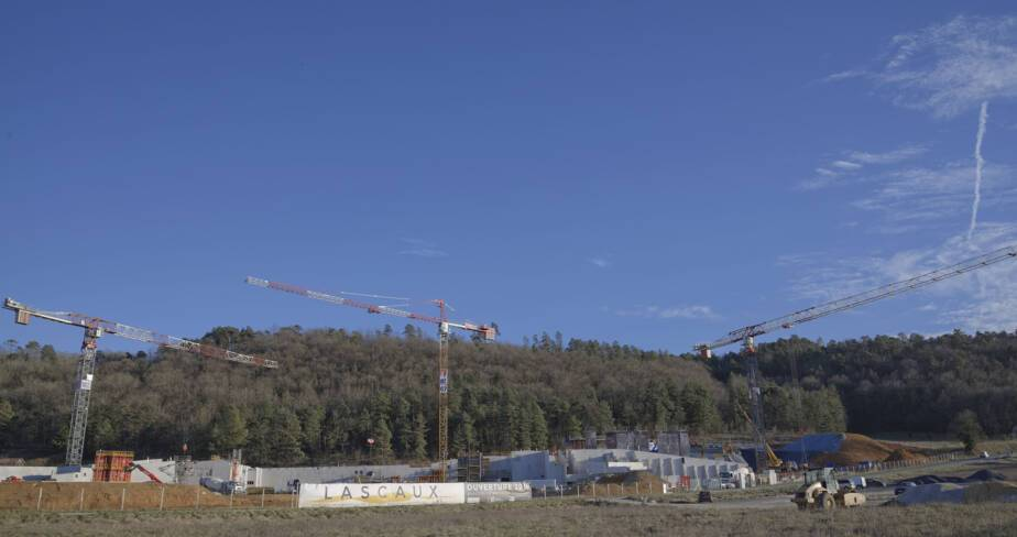 Chantier de construction de Lascaux IV